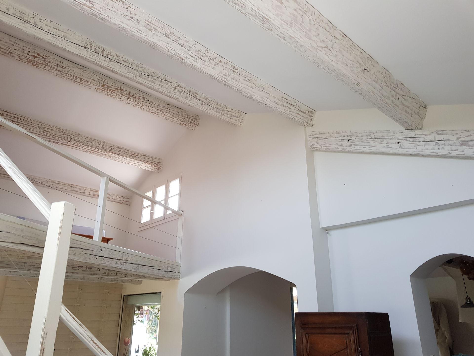 Rénovation peinture salon Cabriès après